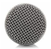 Metallic microphone mesh royalty free stock photo