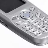 Metallic mobile phone detail Stock Image