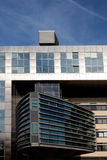 Metallic modern architecture against the blue sky Royalty Free Stock Photos