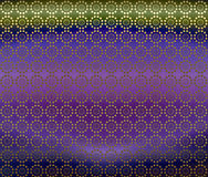 Metallic Morrocan Background Wallpaper. An illustration of geometric design in purple and green metallic for use in website wallpaper design, presentation Royalty Free Stock Photos