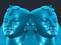 Metallic mummy heads Royalty Free Stock Images