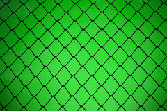 Metallic net with green background Royalty Free Stock Photo