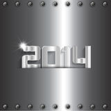 Metallic New Year background Stock Photos