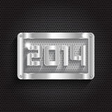 Metallic new year background Royalty Free Stock Images