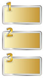Metallic numbered columns design Royalty Free Stock Photography