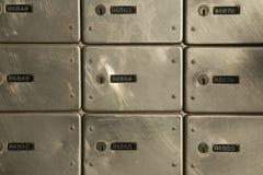 Metallic Numbered Mailboxes stock photos