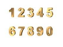 Metallic numbers. On white background Stock Photos