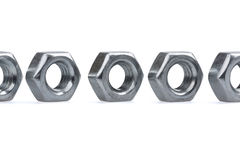 Metallic Nuts Stock Images