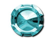 Metallic object. Shiny metallic effect isolated object Royalty Free Stock Photo