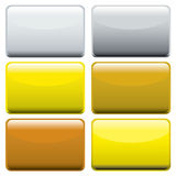 Metallic oblong web buttons Stock Photography