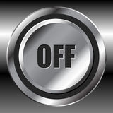 Metallic off button Royalty Free Stock Photography