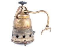Metallic old coffee machine isolated Stock Photo