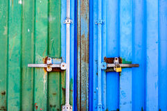 Metallic old doors lock Royalty Free Stock Images