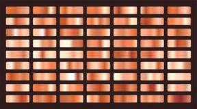 Free Metallic Orange Or Copper Gradients Big Set Stock Photo - 153094660