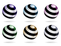 Metallic Orbs EPS. A set of spiraled metallic orbs which can be used for various purposes such as logos or icons. Available in vector EPS format Stock Photo