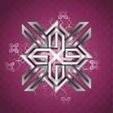 Metallic ornamental pattern vector illustration
