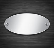 Metallic oval tablet Stock Photos