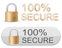 Metallic Padlock. SSL Certificate Signs