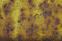 Metallic painted surface with rust and scratched paint Stock Photos