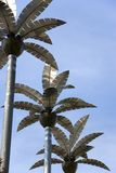 Metallic Palm Trees Stock Photos