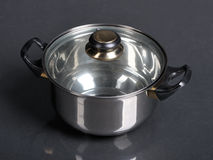 Metallic pan Stock Photo