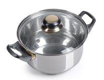 Metallic pan isolated Stock Photos