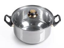 Metallic pan isolated Stock Image