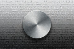 Metallic panel with knob Royalty Free Stock Photo