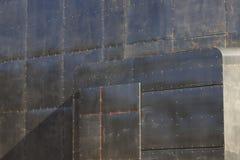 Metallic panels in a modern building facade Royalty Free Stock Photos
