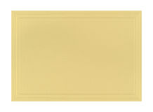 Metallic paper The card. Gold Wedding Metallic paper The card is embossed pumps Royalty Free Stock Photo
