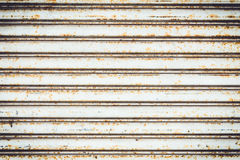 Metallic pattern of industrial gate Stock Photos