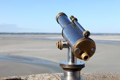 Metallic pay per view monocular. In a touristic spot Royalty Free Stock Photos