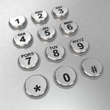 Metallic pay phone keypad Stock Photography