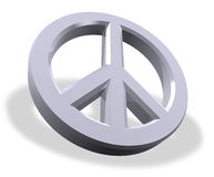 Metallic peace symbol Stock Images