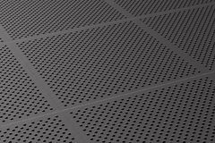 Metallic perforated panel. 3D illustration.  Royalty Free Stock Image