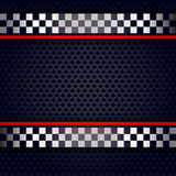 Metallic perforated sheet background for race Stock Image