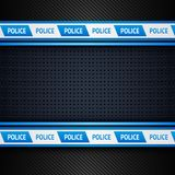 Metallic perforated sheet, police background Royalty Free Stock Photo
