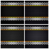 Metallic perforated sheets Royalty Free Stock Photo
