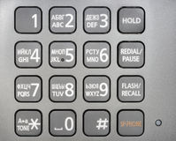 Metallic phone keypad Royalty Free Stock Photography