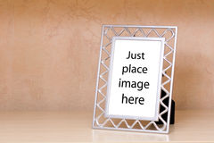 Metallic photo frame Royalty Free Stock Image