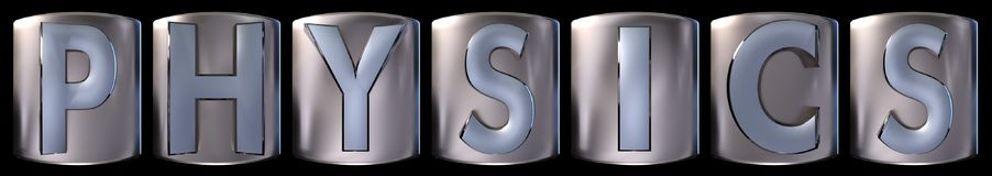 Metallic physics word Stock Photos