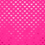 Metallic Pink Hearts Polka Dot Pattern Hearts Dots Stock Image