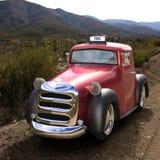 Metallic Pink vintage car Stock Image