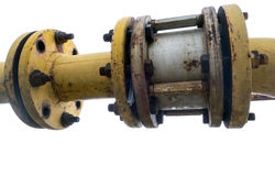 Metallic pipe Stock Photo