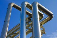 Metallic pipeline Stock Images