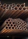 Metallic pipes Stock Image