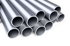 Metallic pipes Royalty Free Stock Photo