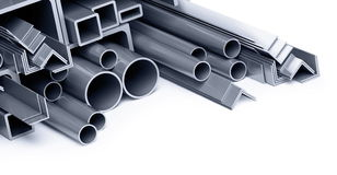 Metallic pipes, corners, types. Background metallic pipes, corners, types Stock Photography