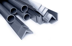 Metallic pipes, corners, types Royalty Free Stock Photo