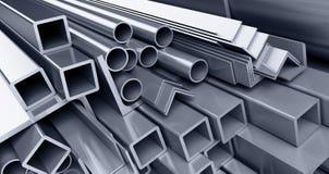 Metallic pipes, corners, types. Background metallic pipes corners types Stock Photography